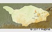 Physical 3D Map of Ouandja-Djalle, darken