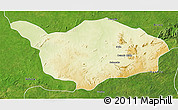 Physical 3D Map of Ouandja-Djalle, satellite outside