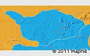 Political 3D Map of Ouandja-Djalle