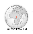 Outline Map of Ouandja-Djalle