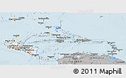 Gray Panoramic Map of Central America