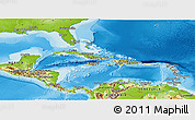 Physical Panoramic Map of Central America