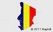 Flag Map of Chad
