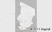 Gray Map of Chad