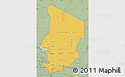 Savanna Style Map of Chad