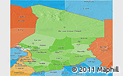 Political Shades Panoramic Map of Chad