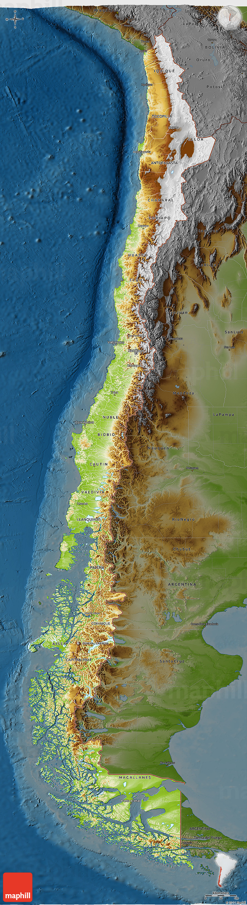 Physical 3D Map of Chile, darken on chile volcano erupts, chile's map, south america map, chile rivers map, chile elevation map, chile precipitation map, chile culture, chile population density map, chile history, chile flag, chile rodeo, chile world map, chile climate zone map, chile geography, chile landscape, chile gold map, chile economic map, chile beaches, chile food,