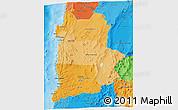 Political Shades 3D Map of ANTOFAGASTA