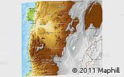 Physical 3D Map of Antofagasta