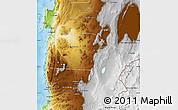 Physical Map of Antofagasta