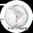 Outline Map of Antofagasta