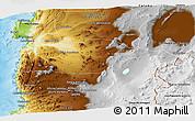 Physical Panoramic Map of Antofagasta