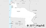 Silver Style Simple Map of Antofagasta