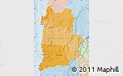 Political Shades Map of ANTOFAGASTA, lighten