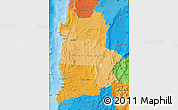 Political Shades Map of ANTOFAGASTA