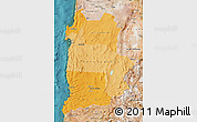 Political Shades Map of ANTOFAGASTA, satellite outside