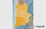 Political Shades Map of ANTOFAGASTA, semi-desaturated