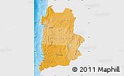 Political Shades Map of ANTOFAGASTA, single color outside