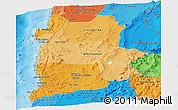 Political Shades Panoramic Map of ANTOFAGASTA
