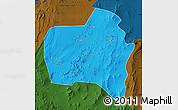 Political Map of Sierra Gorda, darken