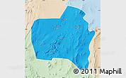 Political Map of Sierra Gorda, lighten