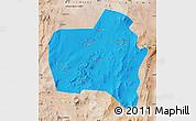 Political Map of Sierra Gorda, satellite outside