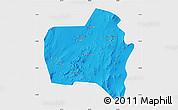 Political Map of Sierra Gorda, single color outside