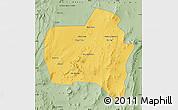 Savanna Style Map of Sierra Gorda
