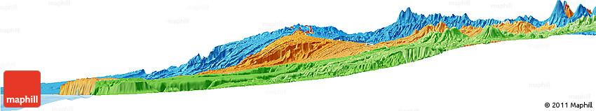 Political Shades Horizon Map of ARICA