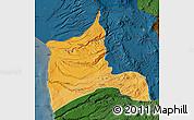 Political Shades Map of ARICA, darken