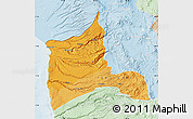 Political Shades Map of ARICA, lighten