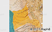Political Shades Map of ARICA, satellite outside