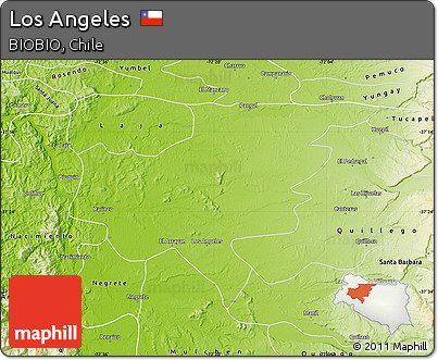 Free Physical Map Of Los Angeles