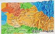 Political Shades 3D Map of CACHAPOAL