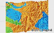 Political 3D Map of Machali