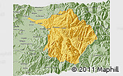 Savanna Style 3D Map of Machali