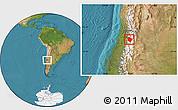 Satellite Location Map of Machali