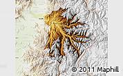 Physical Map of Machali, lighten