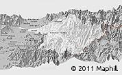 Gray Panoramic Map of Machali