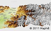 Physical Panoramic Map of Machali