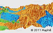 Political Panoramic Map of Machali
