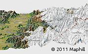 Satellite Panoramic Map of Machali