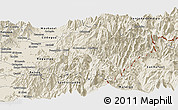 Shaded Relief Panoramic Map of Machali