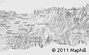 Silver Style Panoramic Map of Machali