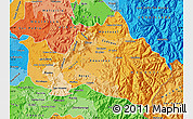 Political Shades Map of CACHAPOAL