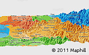 Political Shades Panoramic Map of CACHAPOAL