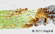 Physical Panoramic Map of Requinao