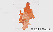 Political Shades Map of CONCEPCION, cropped outside