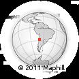 Outline Map of Copiapo