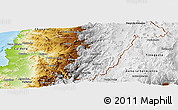 Physical Panoramic Map of Copiapo